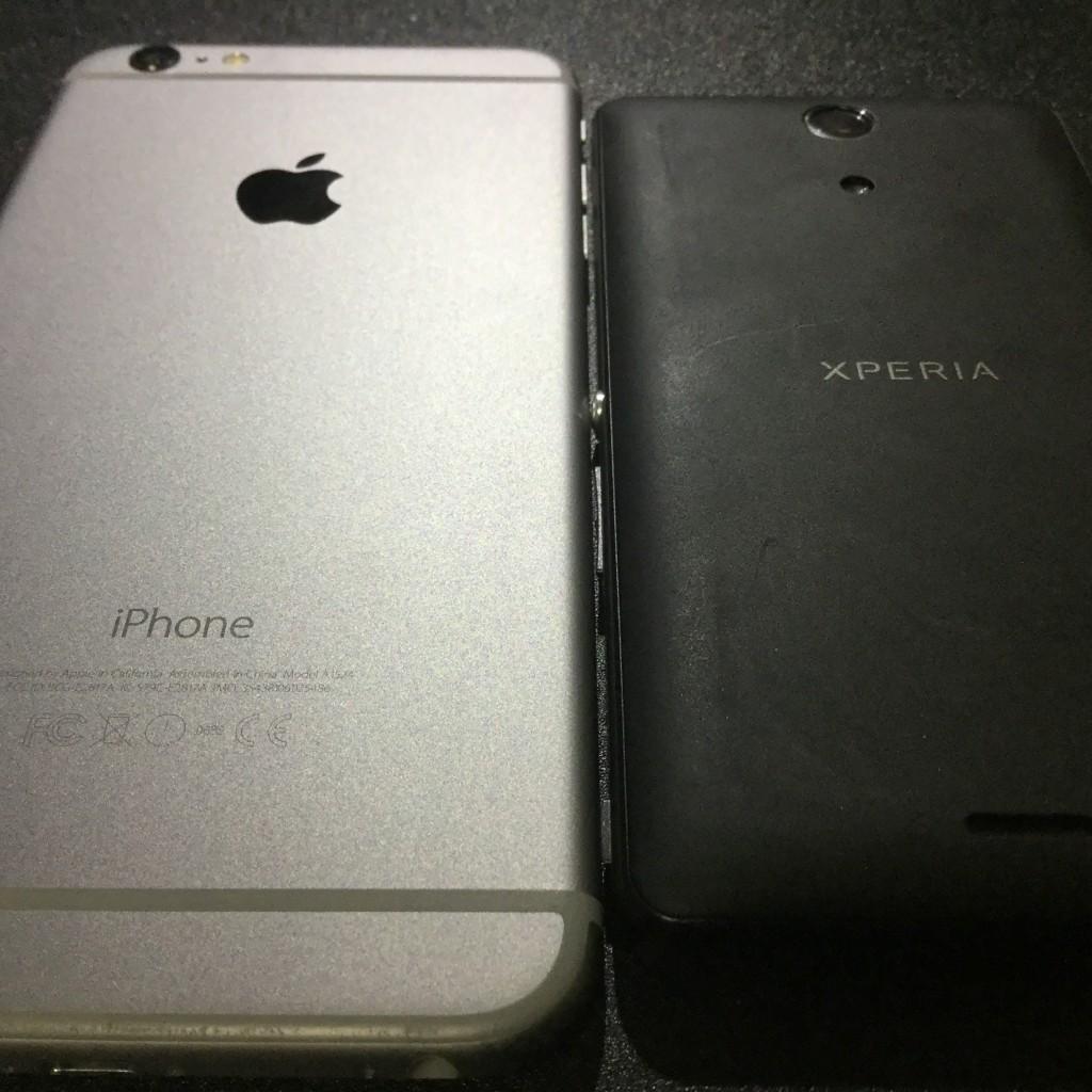 iPhoneとXperia