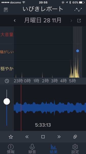 IPhoneアプリ いびきラボ