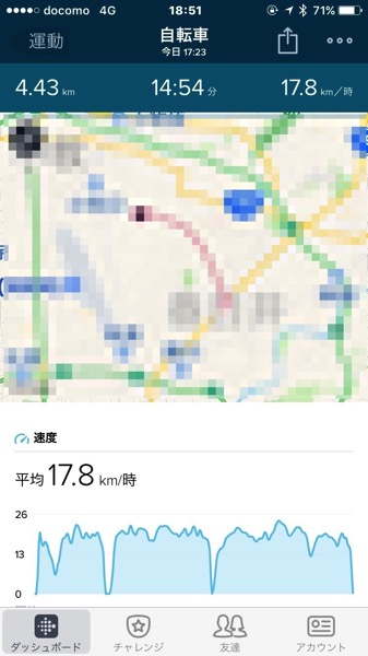 Fitbit Charge2 で運動測定3