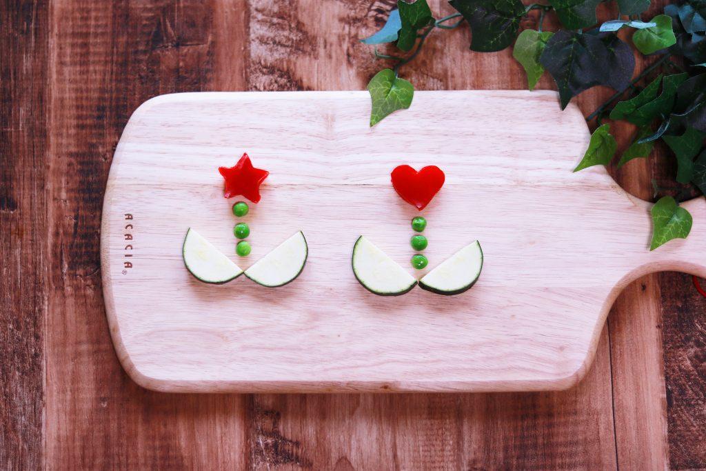 野菜で作ったお花のフリー写真画像