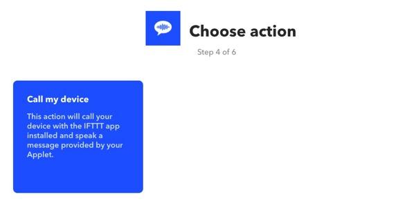 AmazonEchoでiPhoneを探す IFTTTで電話をかける 方法8